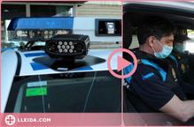 ⏯️ Així funciona el lector de matrícules de la Urbana de Lleida per sancionar vehicles en doble fila o carrils bici