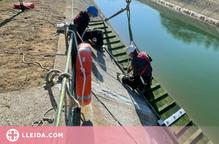 Instal·len una rampa d'evacuació per a animals al canal de Térmens