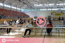 ⏯️ Alumnes de la Seu utilitzen per primer cop un pavelló poliesportiu per fer la selectivitat