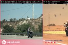 Enxampen dos motoristes que duplicaven la velocitat màxima al Segrià i la Segarra