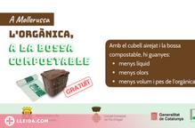 El Pla d'Urgell reparteix cubells i bosses compostables per afavorir la recollida selectiva