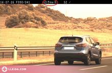 Denunciada penalment per circular a 215 km/h a Lleida