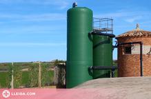 Instal·lada la nova estació de tractament d'aigua potable a Castelldans