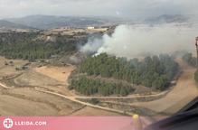 Un incendi forestal crema una hectàrea a la Noguera