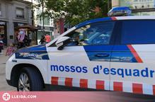 Detingut per un robatori amb violència i dos furts al carrer Major de Lleida
