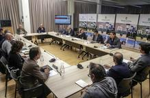La reunió d'ahir a la Diputació de Lleida / Magdalena Altisent