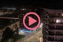 #VÍDEO  Lleida homenatja des dels balcons el personal sanitari