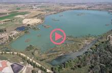 ⏯️ L'estany d'Ivars i Vila-sana ja ha baixat uns 75 centímetres el nivell de l'aigua des de l'inici del buidatge