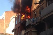 Incendi al carrer Alfred Perenya de Lleida