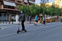 Arxiu noves zones vianants Lleida patinet mascareta Doctor Fleming