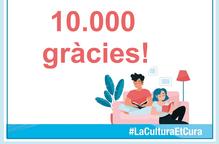Més de 10.000 persones han seguit els directes de la campanya #LaCulturaEtCura