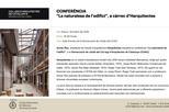 Conferència: 'La naturalesa de l'edifici'
