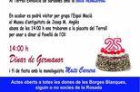 """XXV Aniversari i Festa Intercomarcal """"Dones Terres de Lleida"""""""