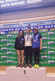 Segona medalla de Paula Juste a l'Estatal de natació