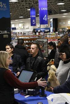 Furor per les compres a Lleida