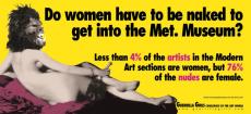 ¿Tienen que estar desnudas las mujeres para entrar en el Metropolitan Museum? (1985)