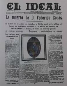 Noticia de la muerte de Frederic Godàs