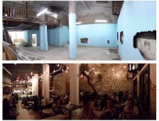 El local, abans i després de les obres. (M. Negri)