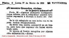 La Mort d'Enric Granados a la premsa