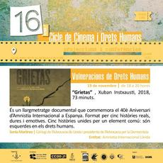 """Grietas"" - Cicle de Cinema i Drets Humans"