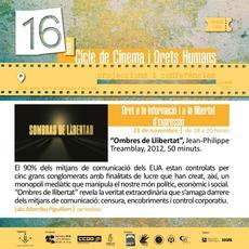 """""""Ombres de Llibertat"""" - Cicle de Cinema i Drets Humans"""