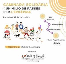 """Caminada solidària """"Un Milió de Passes per l'Epilèpsia"""""""