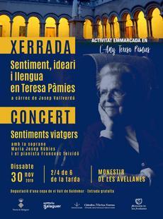 Any Teresa Pàmies - Tarda cultural al Monestir de les Avellanes