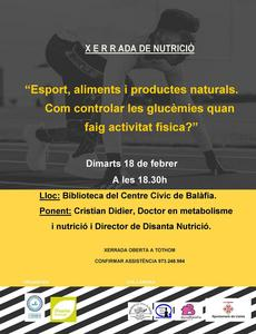 Xerrada nutrició - Esport, aliments i productes naturals