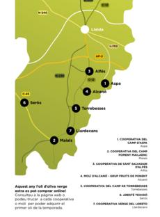 Mapa Camins d'or líquid al Segrià Sec 2020