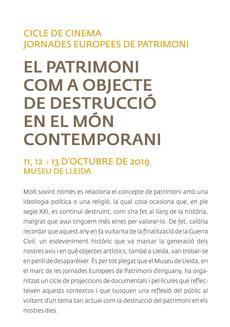 """Cicle de cinema """"El patrimoni com a objecte de destrucció en el món contemporani"""""""