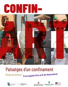 Cartell Exposició Confin-Art. Paisatges d'un confinament