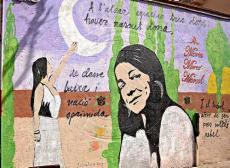 Un mural dedicat a Maria-Mercè Marçal a Ivars.