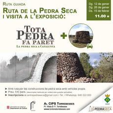 """Ruta guiada + Visita exposició """"Tota pedra fa paret. La Pedra Seca a Catalunya"""""""