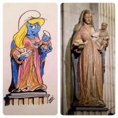 La nova imatge de la Mare de Déu del Blau, via @jordiguardiolaf. BARRUFANTÀSTIC!!