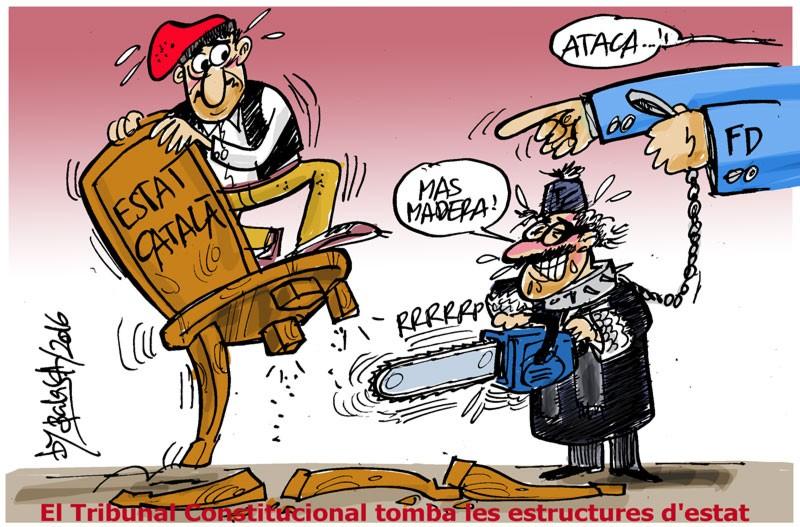 El Tribunal Constitucional tomba les estructures d'estat