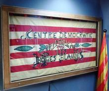 El domàs del Centre Democràtic Republicà exposat a l'Espai Macià (foto: ABB).