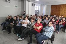Públic assistent a la xerrada sobre salut ocular al Centre Cívic de Magraners