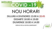 Nou horari INEF Lleida