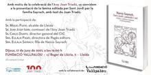 Presentació de la làmina editada per a la fiesta de Sant Jordi