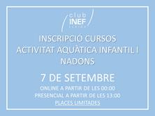 Inscripcions Cursets Natació INEF Lleida