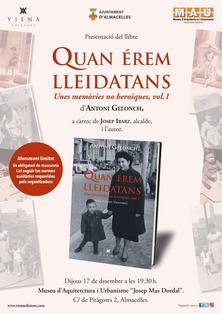 """Presentació MAU llibre """"Quan érem lleidatans"""" Antoni Gelonch"""