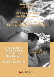 Presentació de 'Els impostors' de Pilar Romera a Llibreria Caselles