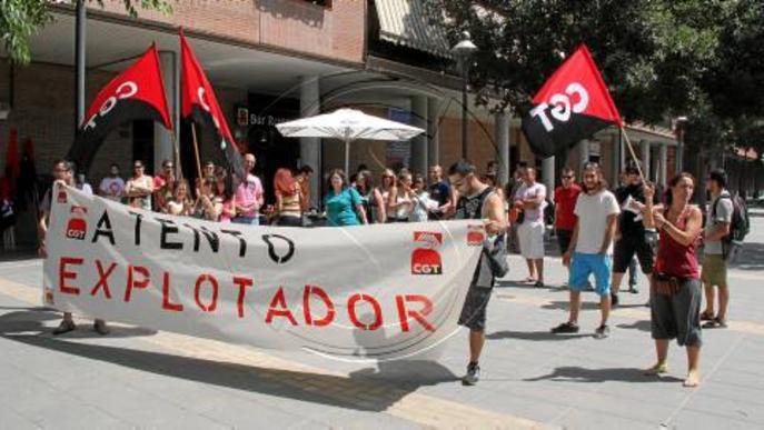 Mobilització i vaga de CGT a Atento Lleida