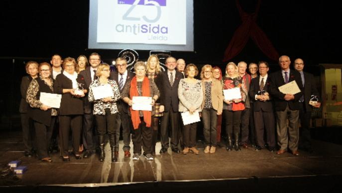 Antisida Lleida celebra 25 anys i premia els seus col·laboradors