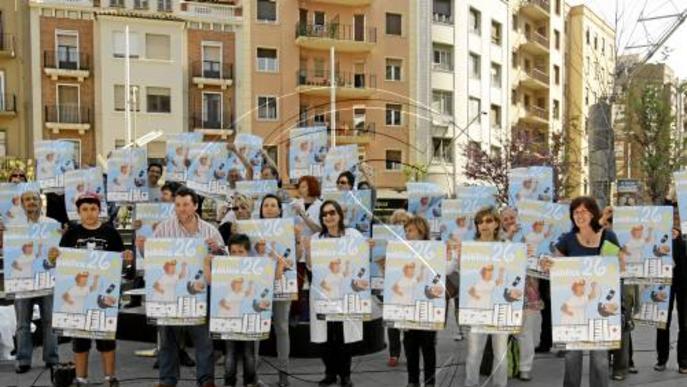 Nova protesta contra l'ens sanitari a Ricard Viñes