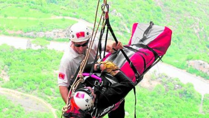 Ferit un escalador al caure-n'hi a sobre un altre des de 8 metres a les Avellanes