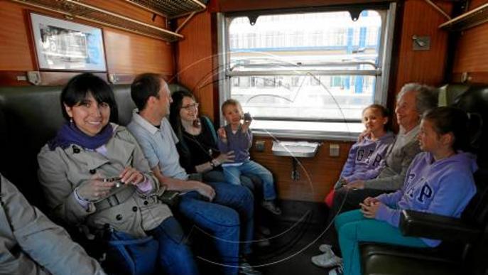 El tren de Lleida a Balaguer, un dels primers en rodalies de Lleida