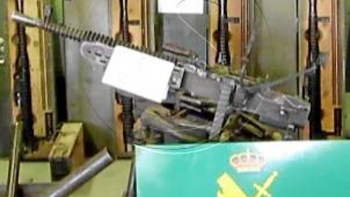 Dos detinguts a la Seu d'Urgell per tenir un arsenal d'armes de la Guerra Civil espanyola