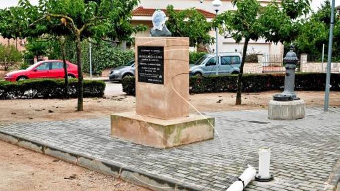 El monument a Macià a Guissona, últim objectiu dels vàndals