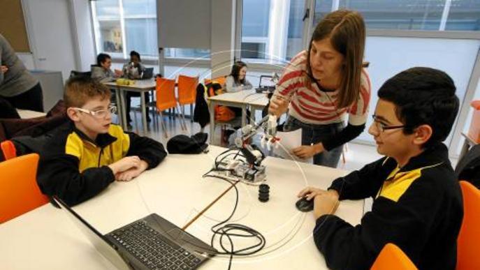 Estudiants aprenents de científics